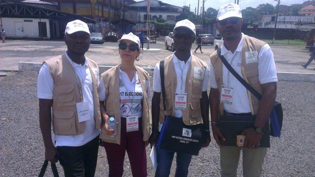 AMD Members observing elections in Liberia
